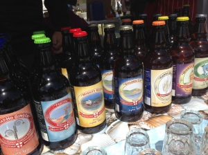Bottled bitters by Mighty Hop Brewery at Bridport Food Festival 2013