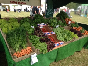 Freash fruit and veg from the Washingpool Farm Shop at Bridport Food Festival 2013