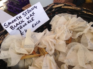 Smooth strong black wax truckle cheese at Bridport Food Festival 2013