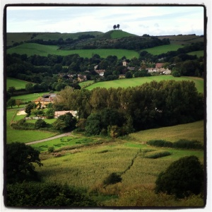 View of Colmers Hill from Allington Hill in Bridport, Dorset. Photo by Totallydorset